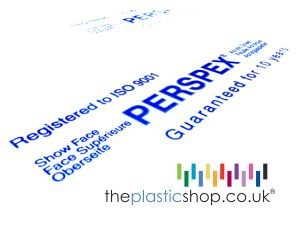 Genuine Perspex sheet