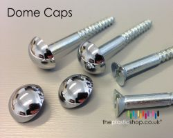 Mirror Screws with Polished Dome Caps