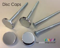 Mirror Screws with Polished Disc Caps