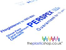 We only sell genuine Perspex