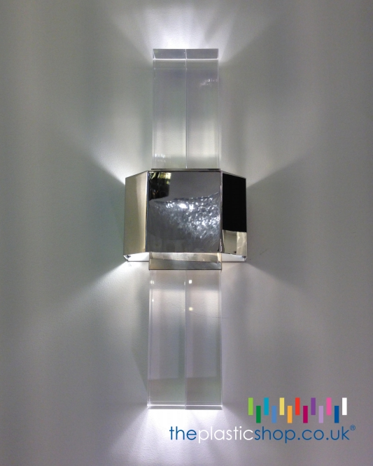 Example of Square Acrylic Rod Used in a Light Fitting