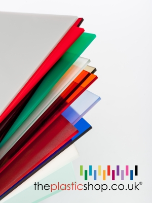 several coloured perspex sheets stacked together