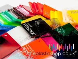 a perspex colour swatch